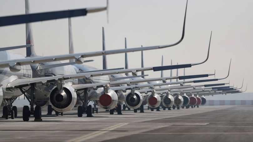 While emissions may have dropped because airlines halted flights, the lack of air traffic may have actually caused a slight warming in temperatures (Credit: Getty Images)