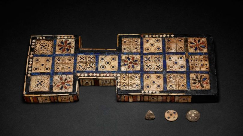 The Royal Game of Ur is an exquisite example of the 20 squares game from 2600-2300BC and features a four-side die (Credit: The Trustees of the British Museum/ CC BY-NC-SA 4.0)