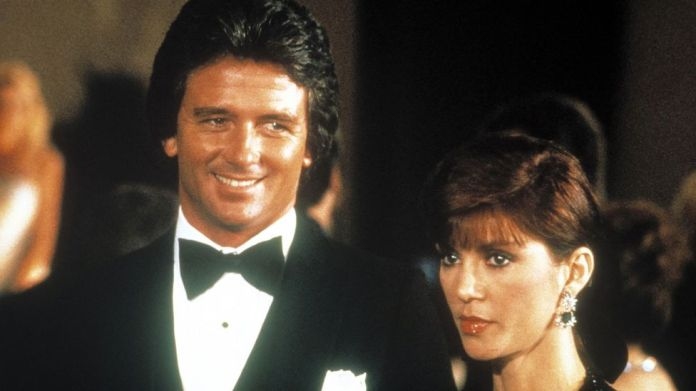One of TV's most infamous twists came in Dallas, when it was revealed the death of Bobby Ewing (Patrick Duffy) was a dream of his ex-wife Pam (Victoria Principal) (Credit: Alamy)