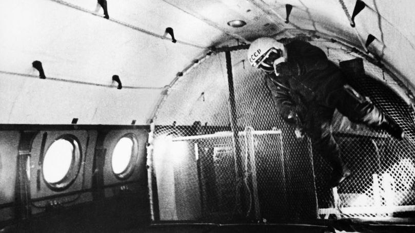The cosmonauts had to undergo many of the same trails Nasa's astronauts did, such as weightlessness training (Credit: Keystone Gamma/Getty Images)