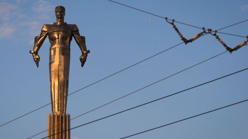 Gagarin's achievement is remembered through statues like this one in Moscow (Credit: Joel Sagat/AFP/Getty Images)