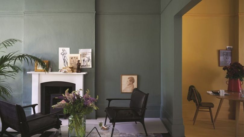 Muted, earthy colours are re-emerging now, including smoky greens and mustard yellow (Credit: Farrow & Ball)