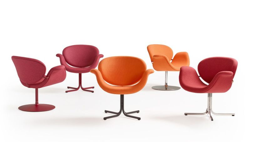 The vibrant shades of the 1960s Artifort Tulip chair have added to its iconic design status (Credit: A Century of Colour in Design/ Thames & Hudson)