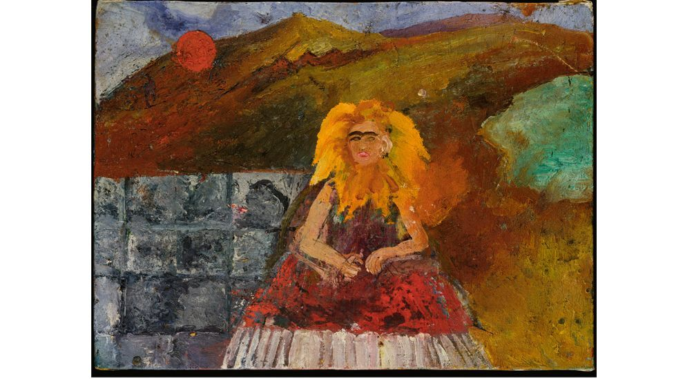 Frida in Flames (Self-portrait inside a Sunflower), 1953-54, is a powerful late painting (Credit: Private Collection, USA. Photo courtesy of Mary-Anne Martin Fine Art New York)