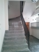 Granite staircase, before wood panels