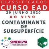 CURSO DE COMPORTAMENTO DE CONTAMINANTE EM SUBSUPERFÍCIE - EAD AO VIVO, EM TEMPO REAL