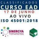 CURSO DE SISTEMA DE GESTÃO DE SEGURANÇA E SAÚDE DO TRABALHO ISO 45001:2018, EAD AO VIVO EM TEMPO REAL