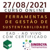 CURSO SOBRE FERRAMENTAS DE GESTÃO DA SUSTENTABILIDADE, EAD AO VIVO, EM TEMPO REAL