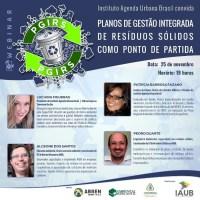25/11 WEBINAR SOBRE PLANO DE GESTÃO INTEGRADA DE RESÍDUOS - SÉRIE TENDÊNCIAS