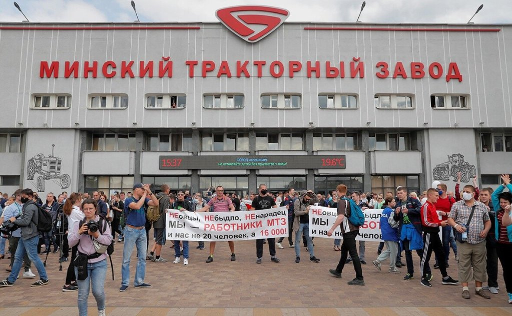 From tens of thousands people marching on weekends to nationwide strikes belarus protest enters its 80th day