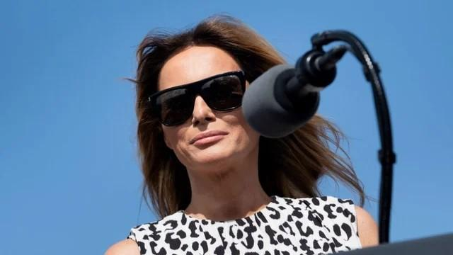 First Lady United States rarely participated in a campaign with Trump
