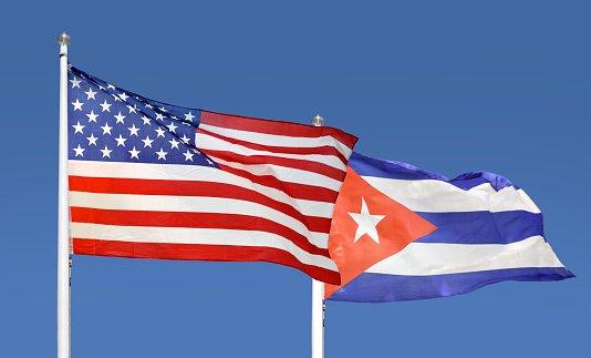 People in many places in Cuba marched against the U.S. embargo