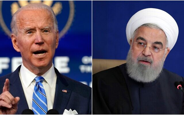 Iran again calls on the Biden administration to lift all sanctions and says it will withdraw retaliation measures.