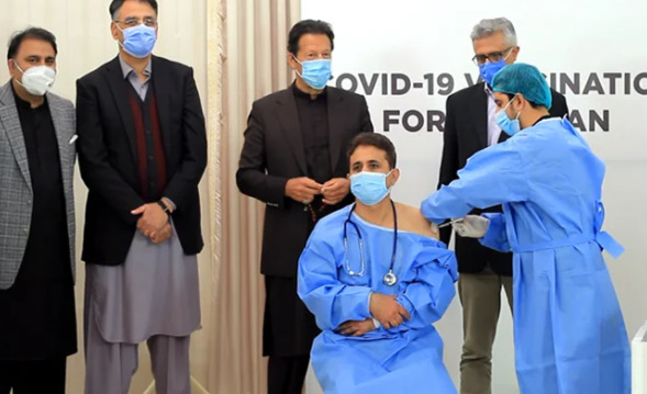 Pakistan launches coronavirus vaccination Prime Minister attends ceremony to thank China