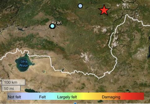 5.1 magnitude earthquake occurred in the Republic of Tuva, Russian Federation