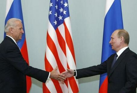 The Russian and U.S. foreign ministers are holding telephone talks and will meet in Iceland this month