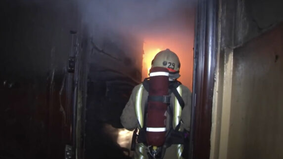 A fire broke out in a residential building in Lviv city in western Ukraine, one person died.