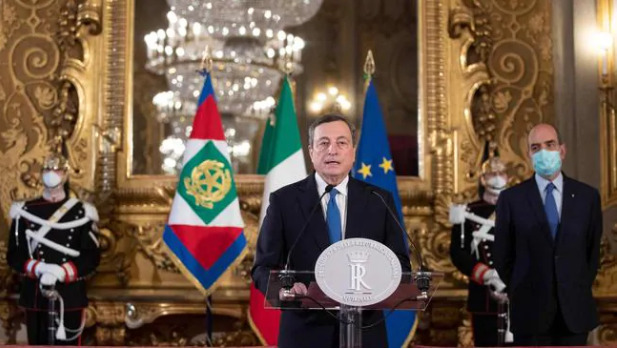 Draghi officially accepted his appointment as the new Prime Minister of Italy and announced the list of cabinet ministers.