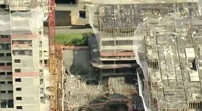 A building under construction in São Paulo, Brazil collapsed and one person was injured.