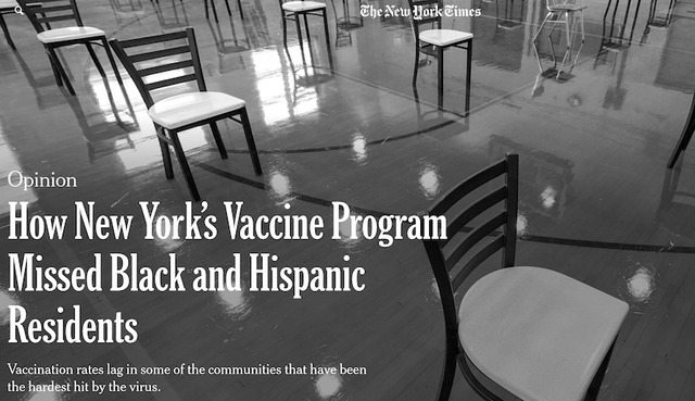 """The """"black and white"""" of U.S. vaccination is questioned."""
