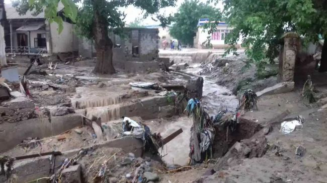 Seven people have been killed in a mudslide in Tajikistan