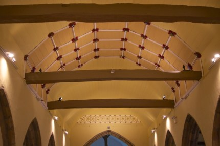 Nave Ceiling & Refurbished Bosses