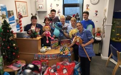 Santas helpers deliver to Dewsbury Hospital