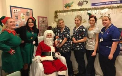 Santa visits Calderdale Hospital