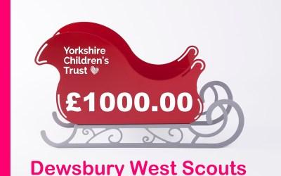 Dewsbury West Scouts raise £1k