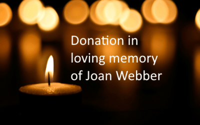 Donation in loving memory of Joan Webber