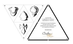 etiqueta regalo custom Craft plantilla