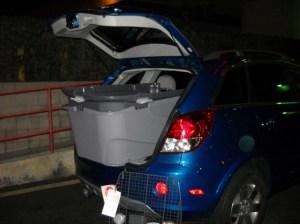 Crate into SUV