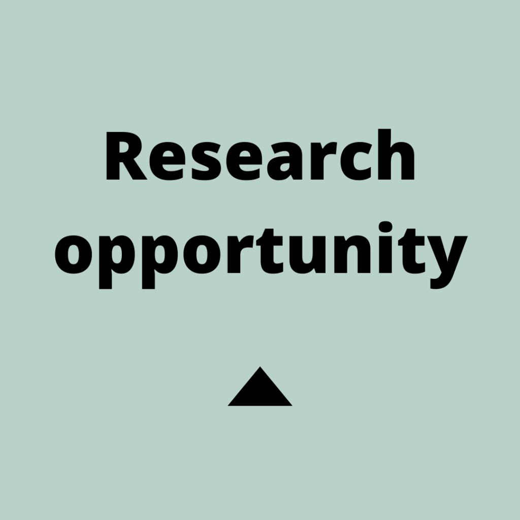 Text reads 'research opportunity'