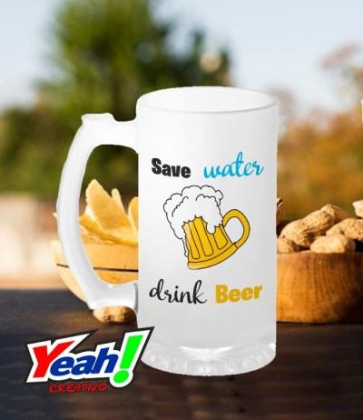 jarra cervecera salve the water drink beer