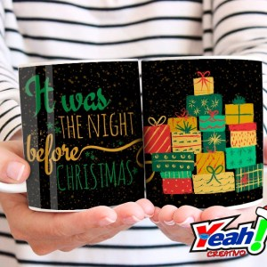 Taza It was the night before Christmas