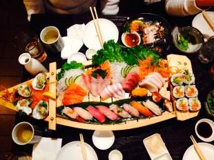 kitcho sushi boat sashimi