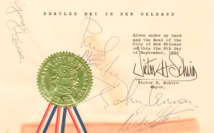 Beatles- New Orleans - Certificate