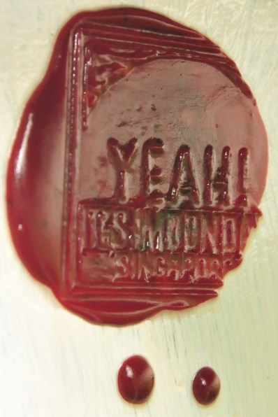 Our famous wax stamp