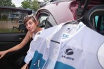 Lovely Jennine, our soigneur for the weekend. OK, she never gave me a massage.