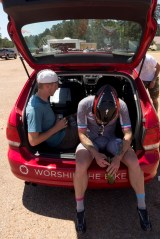 Team car/chill zone.