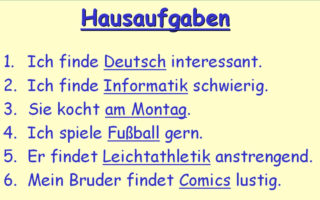 Year 8 German