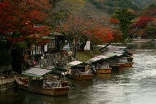 Boats docket in Arashiyama