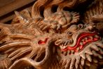 Dragon carving on temple door