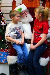 December 24, 2012: Seeing Santa in North Pole