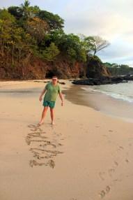 CR Message on the Beach