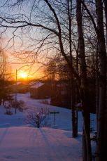 April 10, 2013: Sunset on Yard