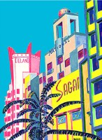 Collins Avenue Deco Scape (Prints Only)