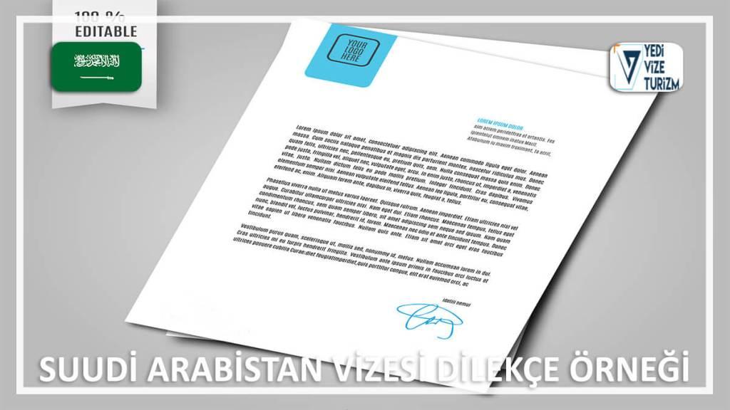 Vizesi Dilekçe Örneği Suudi Arabistan