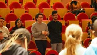 l'Association Passeurs d'Arts a reçu la visite connue du grand chef d'orchestre Gustavo Dudamel.