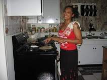 Cooking Sadha Roti in my Auntie's Kitchen in Trinidad